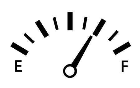 velocímetro. símbolo abstracto de la velocidad