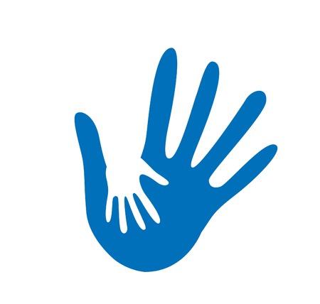 oneness: hand helping illustration