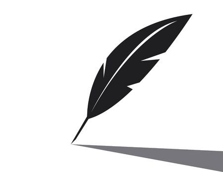 Vector feather icon on white background Illustration