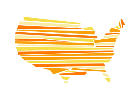 georgia: USA map vector illustration Illustration