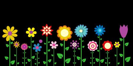fleurs colorées illustration vectorielle