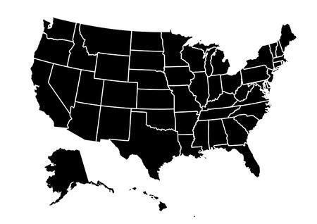 アメリカ地図のベクトル図 写真素材 - 72783202