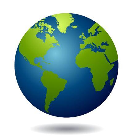 Vector del globo del mundo.