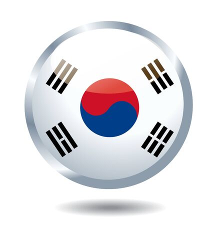 South Korea flag vector