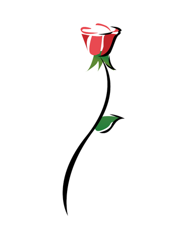 Red Rose Abstract vector illustration