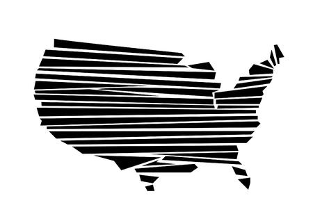 USA map vector illustration Иллюстрация