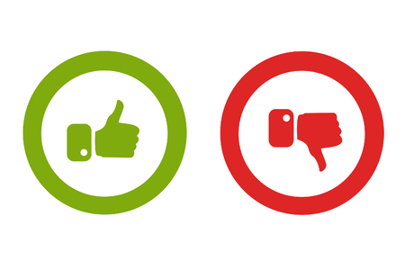 Modern Thumbs Up and Thumbs Down Icons Imagens - 79638980