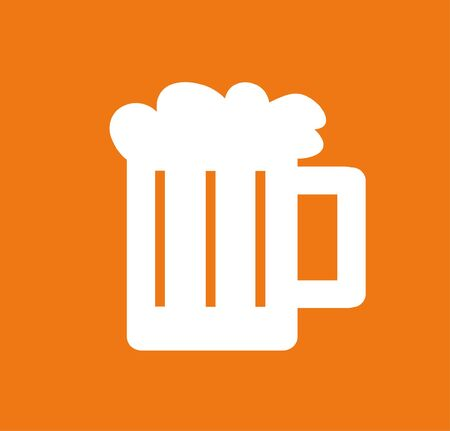 alehouse: vector illustration of a glass of beer