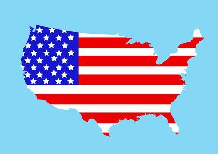 アメリカ地図のベクトル図