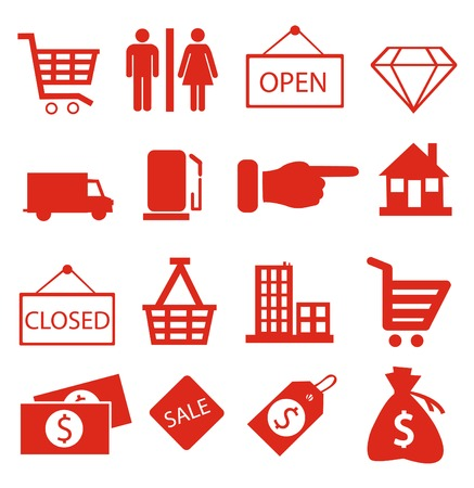creditcard: Shopping icons vector Illustration