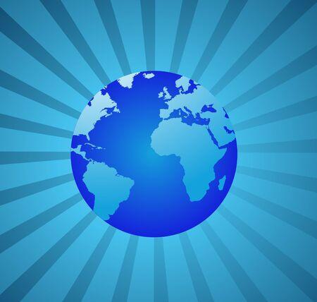 세계 글로브 벡터