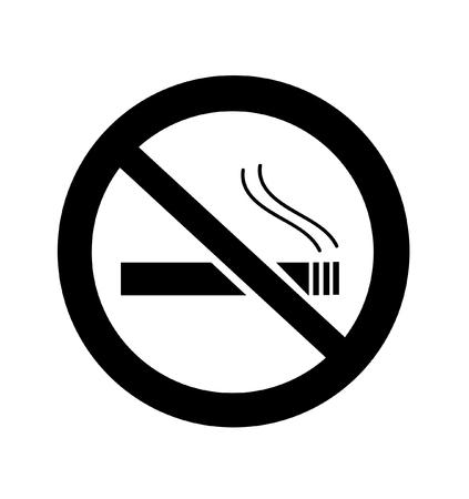 No Smoking sign illustration. Illustration