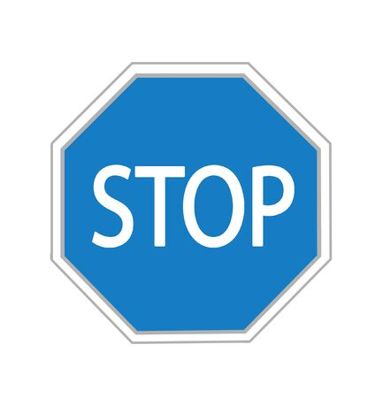Stop sign in blues illustration