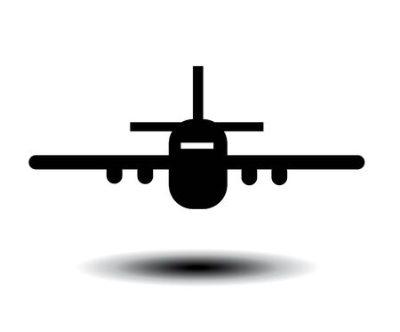 Airplane vector illustration on a white background. Illustration