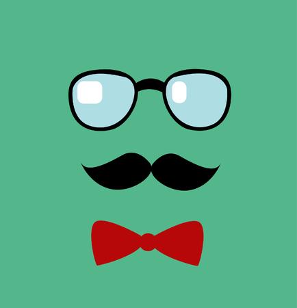 Glasses and mustache. Vector illustration Illustration