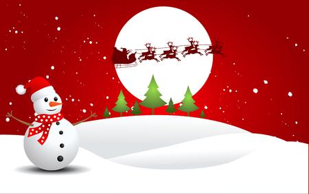 Snowman, vector illustration Illusztráció