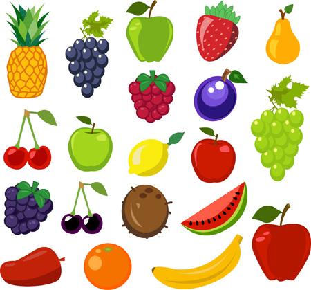 Set of fruit vector illustration Ilustração
