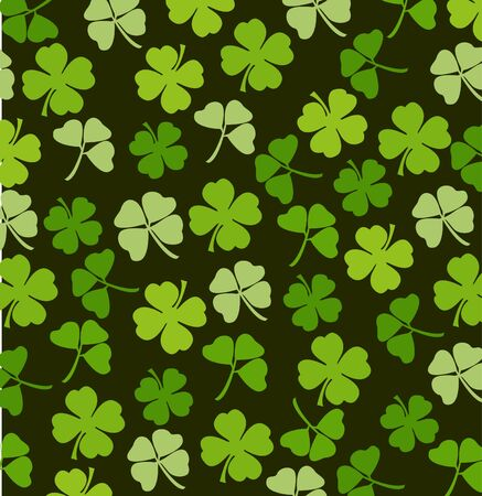 St. Patricks day vector background with shamrock