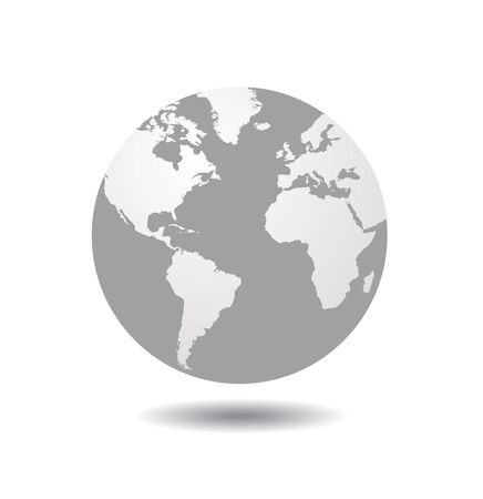 World globe vector Çizim