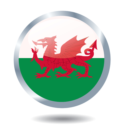 Flag of Wales vector illustration