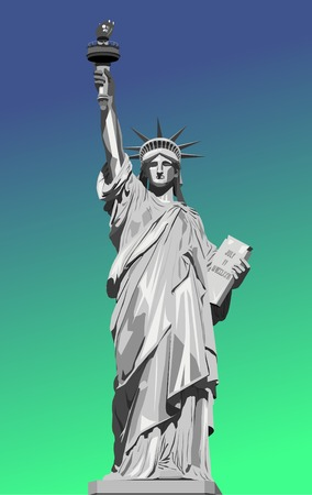 Vector illustration of statue of liberty.