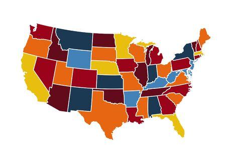 USA map vector illustration  イラスト・ベクター素材