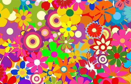 flores de primavera colorida ilustración vectorial Ilustración de vector