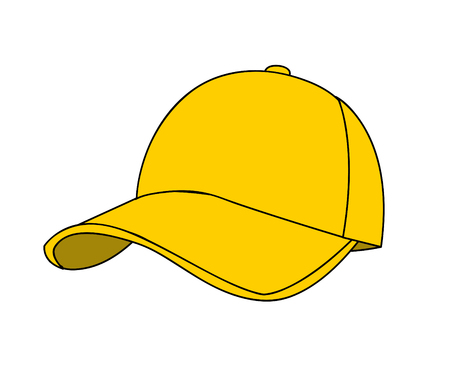 baseball cap vector illustration on white