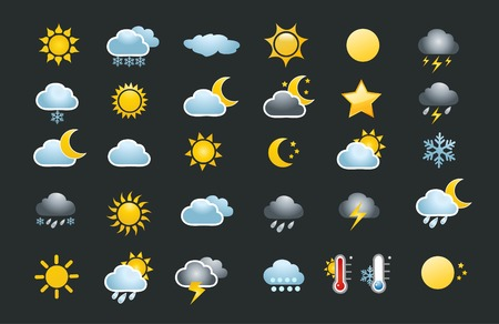 30 weather icons set