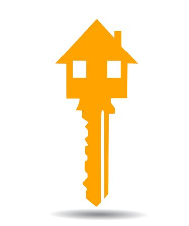 vector illustration of key with house Illustration
