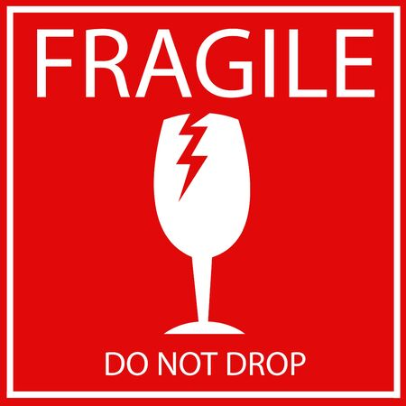 Fragile or Breakable Material packaging symbol