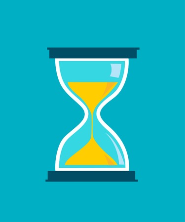 Hourglass time icon isolated  Illustration