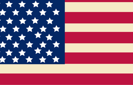 United State Of America flag isolated vector Vectores