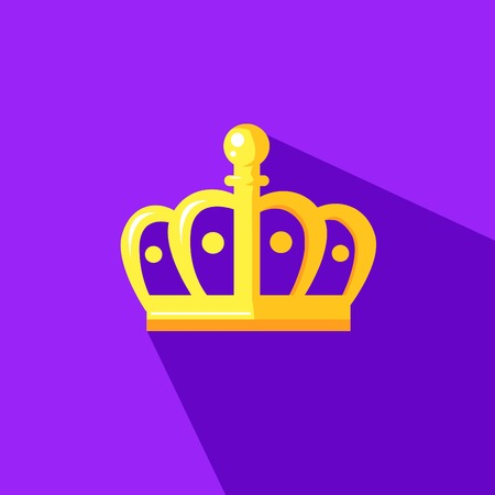 illustration of a crown crown in flat design style Stockfoto - 121826534