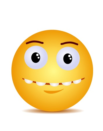 Sorriso felice che ride giallo moderno Vettoriali