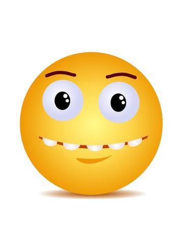 Sourire heureux riant jaune moderne Vecteurs