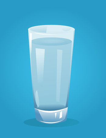 glass with water vector illustration Çizim