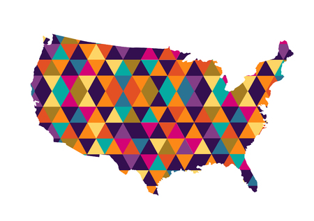 USA map vector illustration 向量圖像