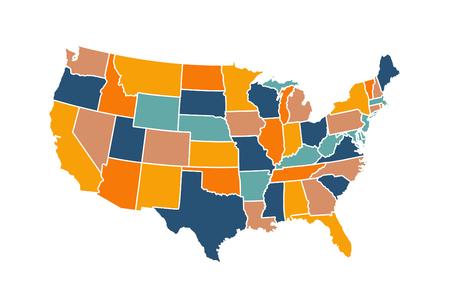 Illustration vectorielle de carte USA Vecteurs