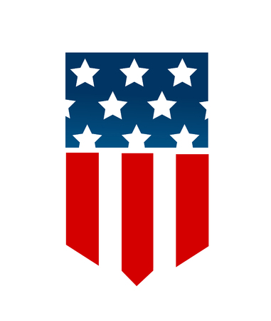 United State Of America flag isolated vector Stock Illustratie