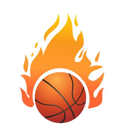 Vector Flaming Basketball Stock Illustratie