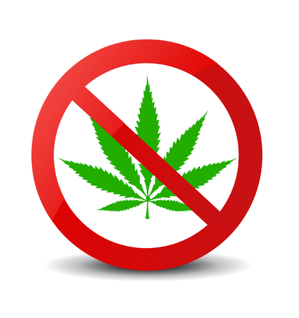 Stop marijuana sign isolated vector illustration
