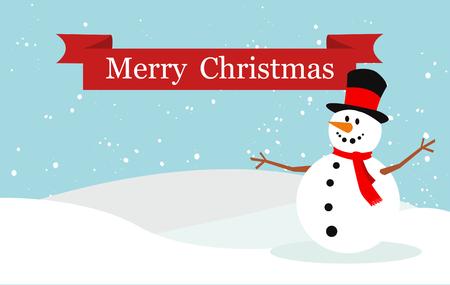 Snowman vector illustration Stock Illustratie