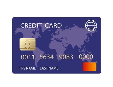 vector realistic credit card Illustration