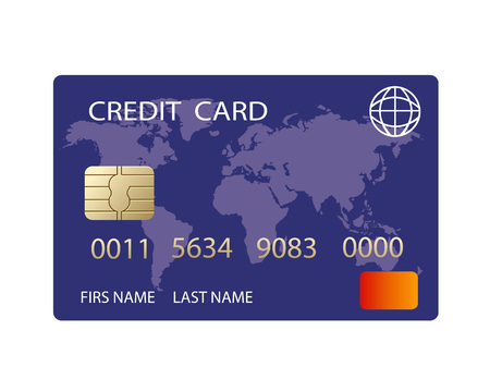 vector realistic credit card Ilustrace