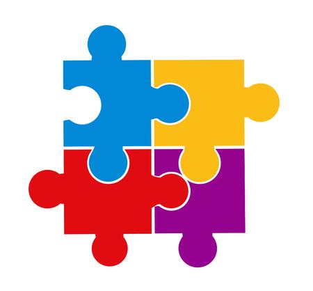 Ilustración de vector de piezas de rompecabezas Ilustración de vector