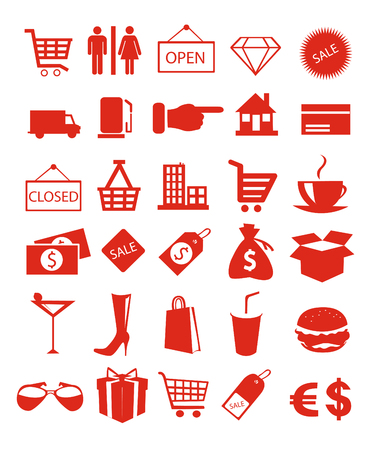 Shopping icons vector illustration Stockfoto - 126915512