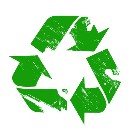 Vector recycle sign illustration Stock Illustratie