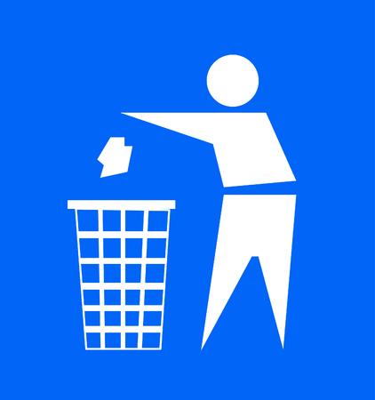 Do not litter, vector sign