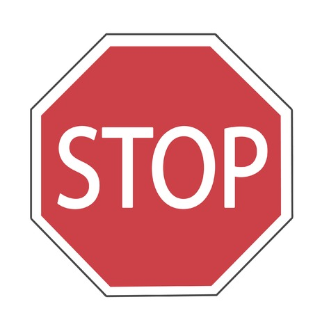 Vector illustration of Stop sign